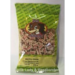 Hundegodbidder Petsnack miniben laks&ris 200 gr.