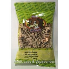 Hundegodbidder Petsnack miniben lam&ris 200 gr.