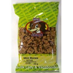 Hundegodbidder Petsnack miniben fjerkræ 200 gr.