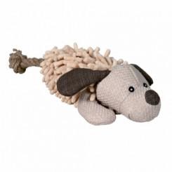 Plys hund med reb 30 cm.
