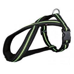 Hundesele Fusion sort/grøn