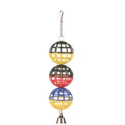 3 gitterbolde m/kæde og klokke