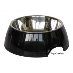 Hunde/katteskål Royal melamin/stål sort